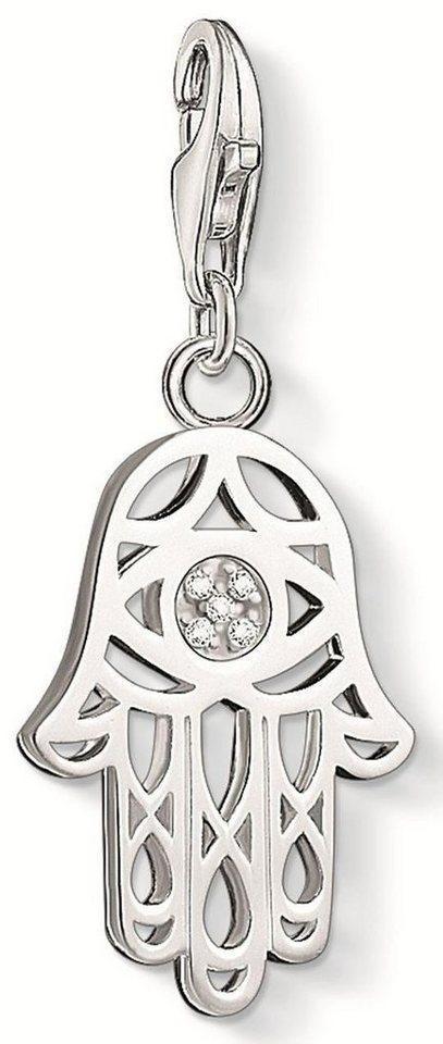 Thomas Sabo Charm-Einhänger »Fatimas Hand, DC0030-725-14« mit Diamanten in Silber 925