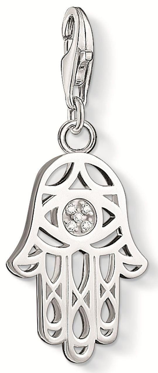 THOMAS SABO Charm-Einhänger »Fatimas Hand, DC0030-725-14« mit Diamanten
