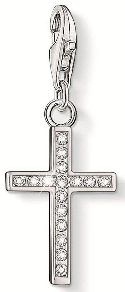 Thomas Sabo Charm-Einhänger »Kreuz, 0049-051-14« mit Zirkonia in Silber 925