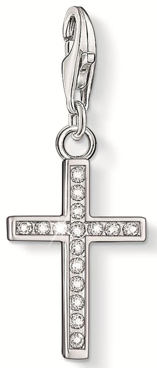 THOMAS SABO Charm-Einhänger »Kreuz, 0049-051-14« mit Zirkonia