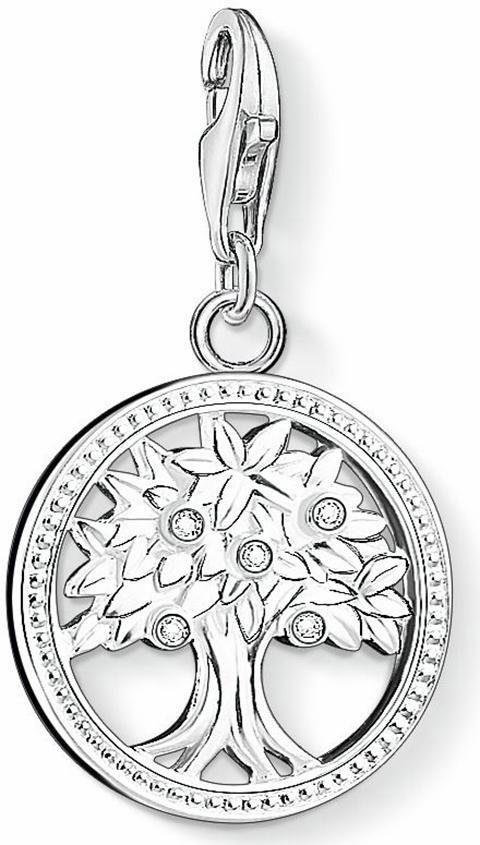 THOMAS SABO Charm-Einhänger »Lebensbaum, 1303-051-14« mit Zirkonia