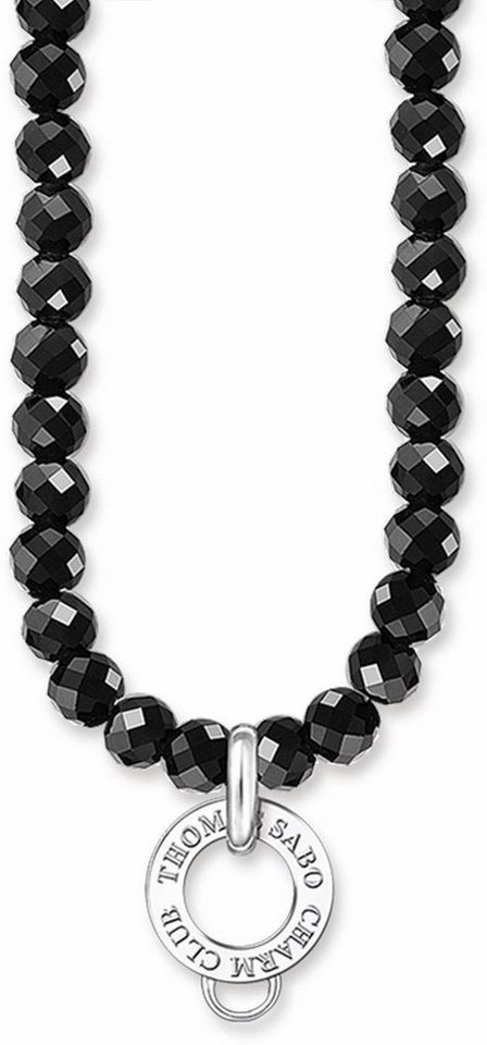 Thomas Sabo Charm-Kette »Kette, X0194-023-11-L70, L90« mit Obsidian in Silber 925