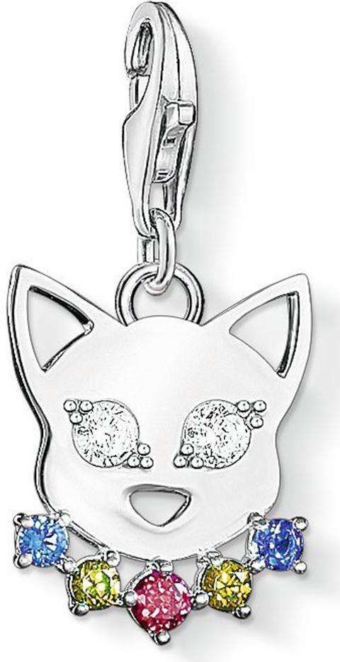 Thomas Sabo Charm-Einhänger »Katze, 1295-073-7« mit Zirkonia in Silber 925
