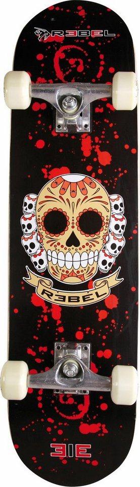 Rebel Skateboard »Extreme Alliance, Design: SKULL« in rot-schwarz
