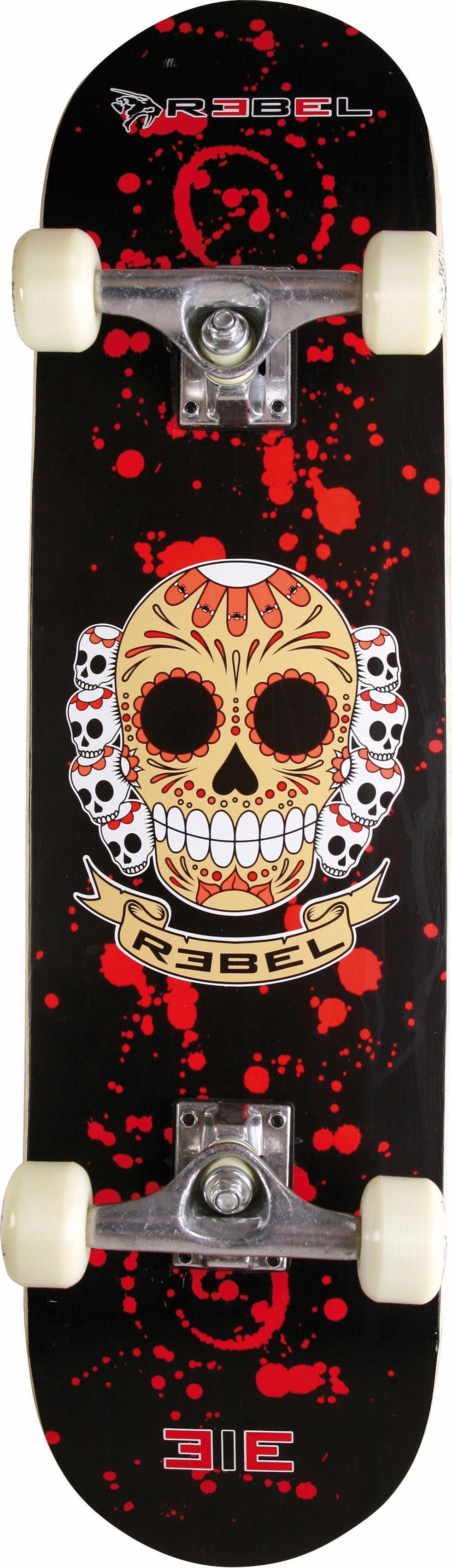 Rebel Skateboard »Extreme Alliance, Design: SKULL«