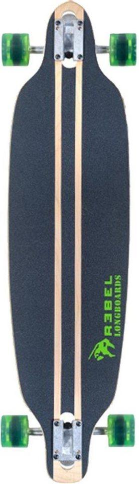 Rebel Longboard »Pacific Palisades green« in holzfarben-grün-schwarz
