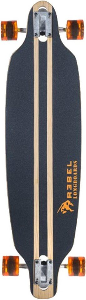 Rebel Longboard »Pacific Palisades orange« in holzfarben-orange-schwarz