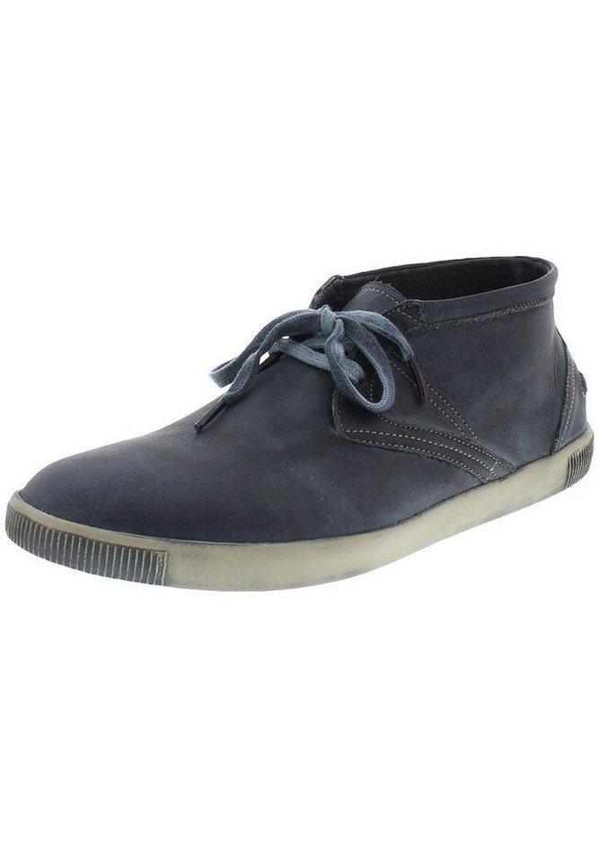 softinos sportlicher Schnürschuh »Tim washed leather HW16« in dunkelblau