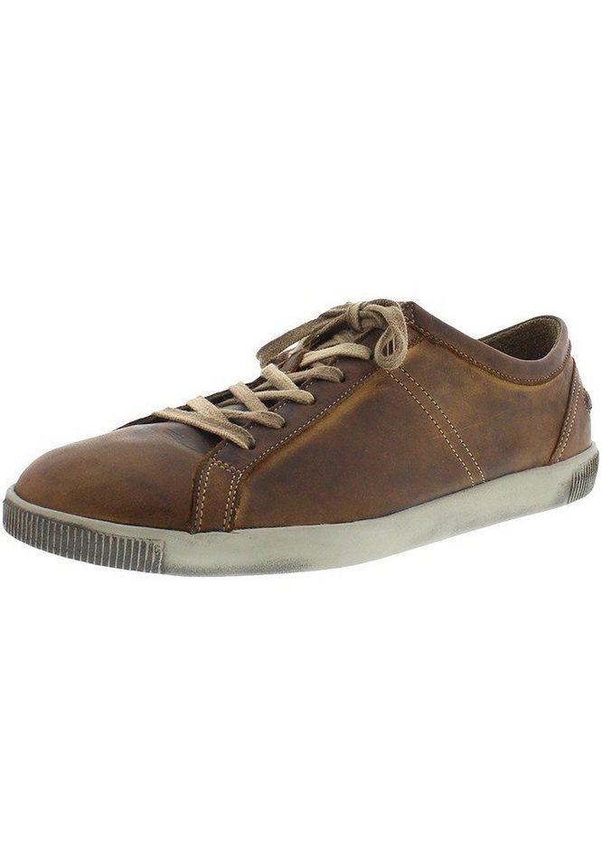 softinos Softinos Tom washed leather HW16 - sportlicher Schnürschuh für »Tom washed leather HW16« in braun
