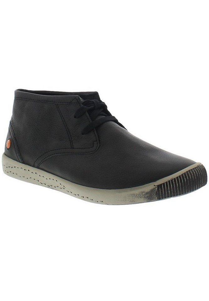 softinos Sneaker high »Indira smooth leather HW16« in schwarz