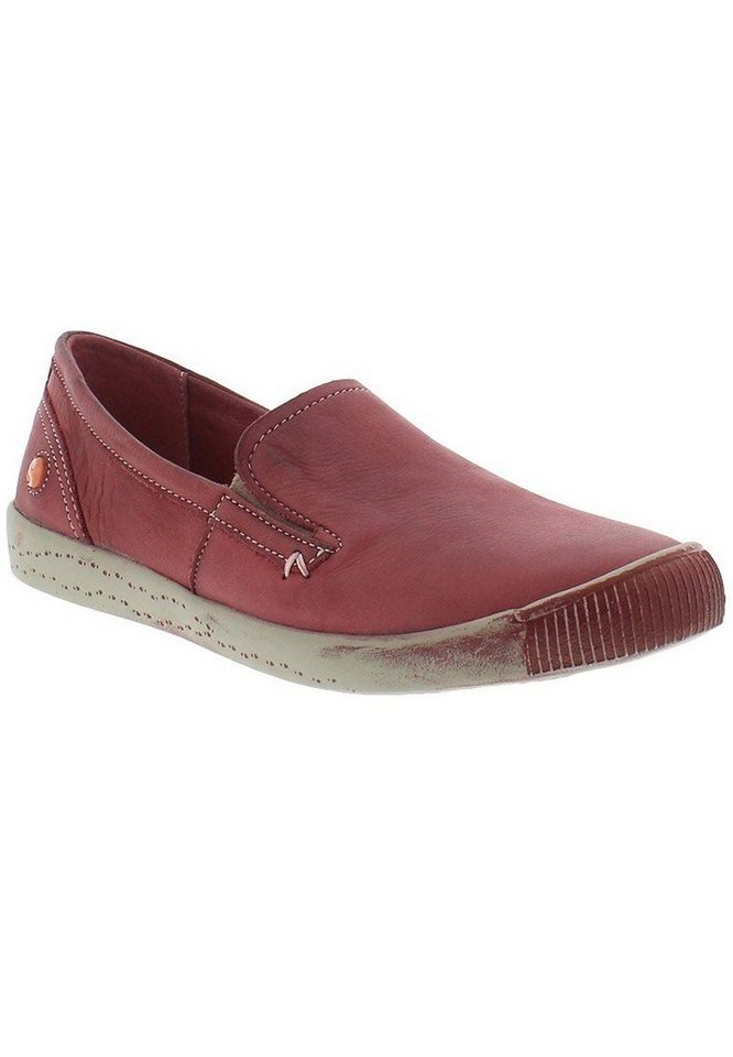 softinos Slipper »ITO344SOF washed leather« in rot