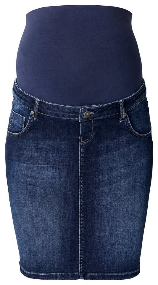 NOPPIES Umstandsrock Jeans »Bella« in Mid Bleu