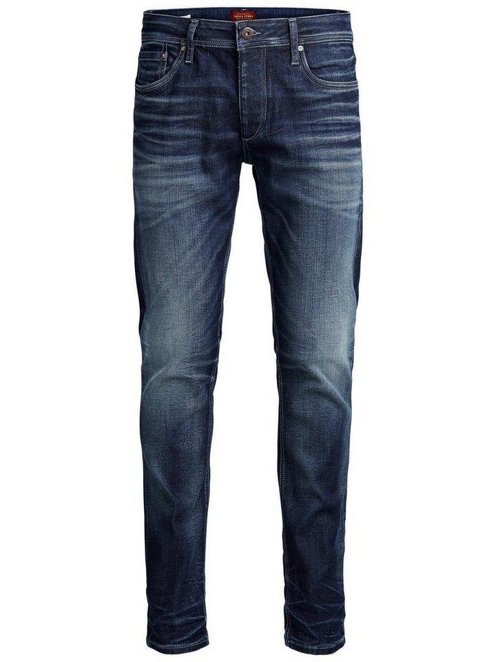 Jack & Jones Tim Original JJ 977 Slim Fit Jeans in Blue Denim