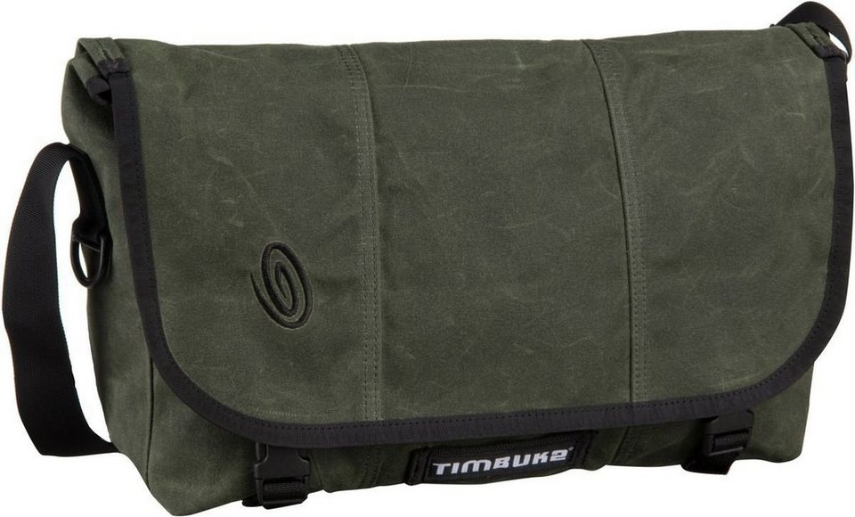 Timbuk2 Classic Messenger Bag Waxed Canvas S in Olive Waxed