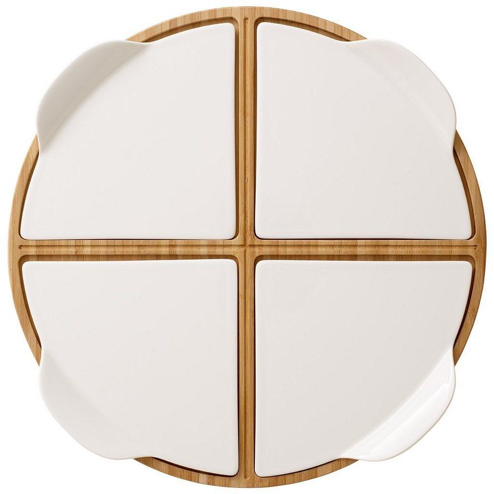 VILLEROY & BOCH Partyplatte rund »Pizza Passion« in Weiss