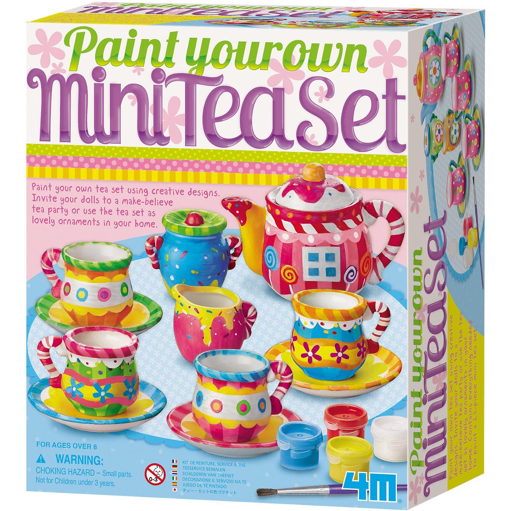 4M Kreativset Mini-Tee-Set (Paint your own Mini Tea Set)
