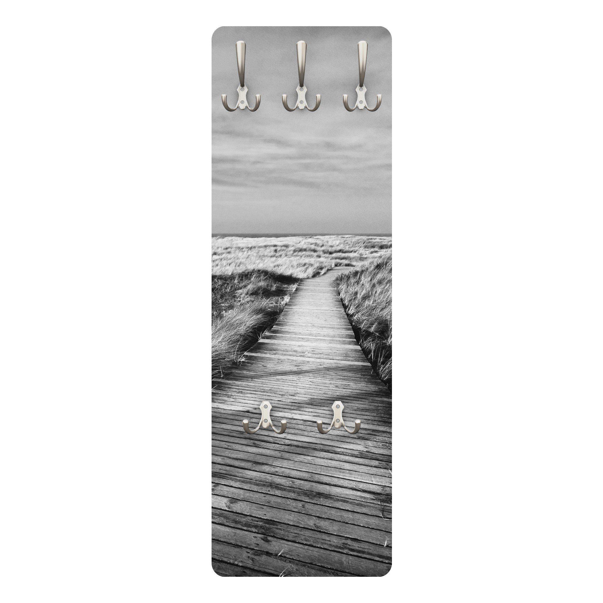 Bilderwelten Wandgarderobe 139x46x2cm »Dünenweg auf Sylt II«