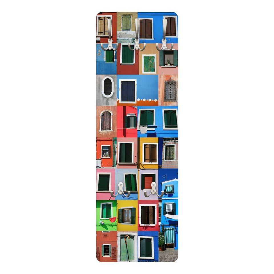 Bilderwelten Wandgarderobe 139x46x2cm »Fenster der Welt« in Farbig