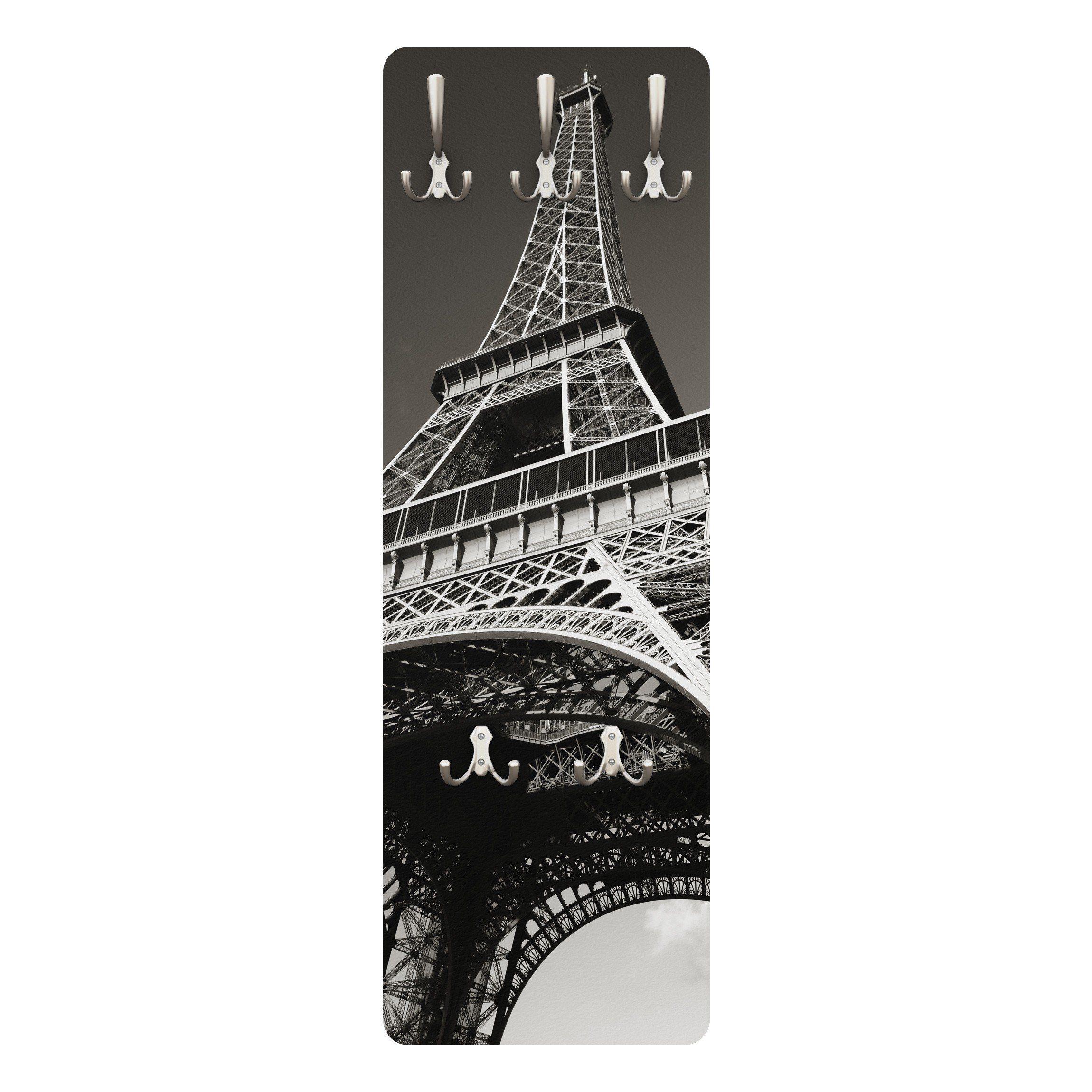 Bilderwelten Wandgarderobe 139x46x2cm »Eiffelturm«