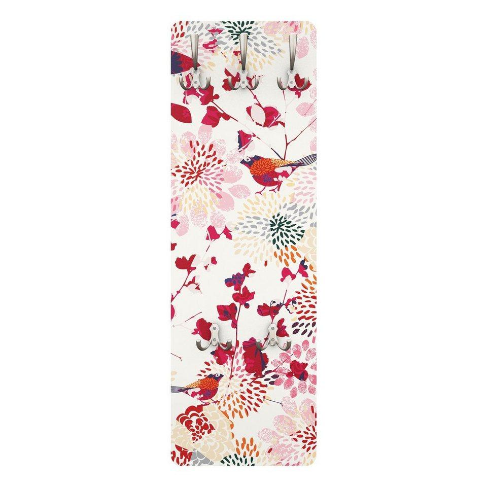 Bilderwelten Kindergarderobe 139x46x2cm »Fancy Birds« in Pink