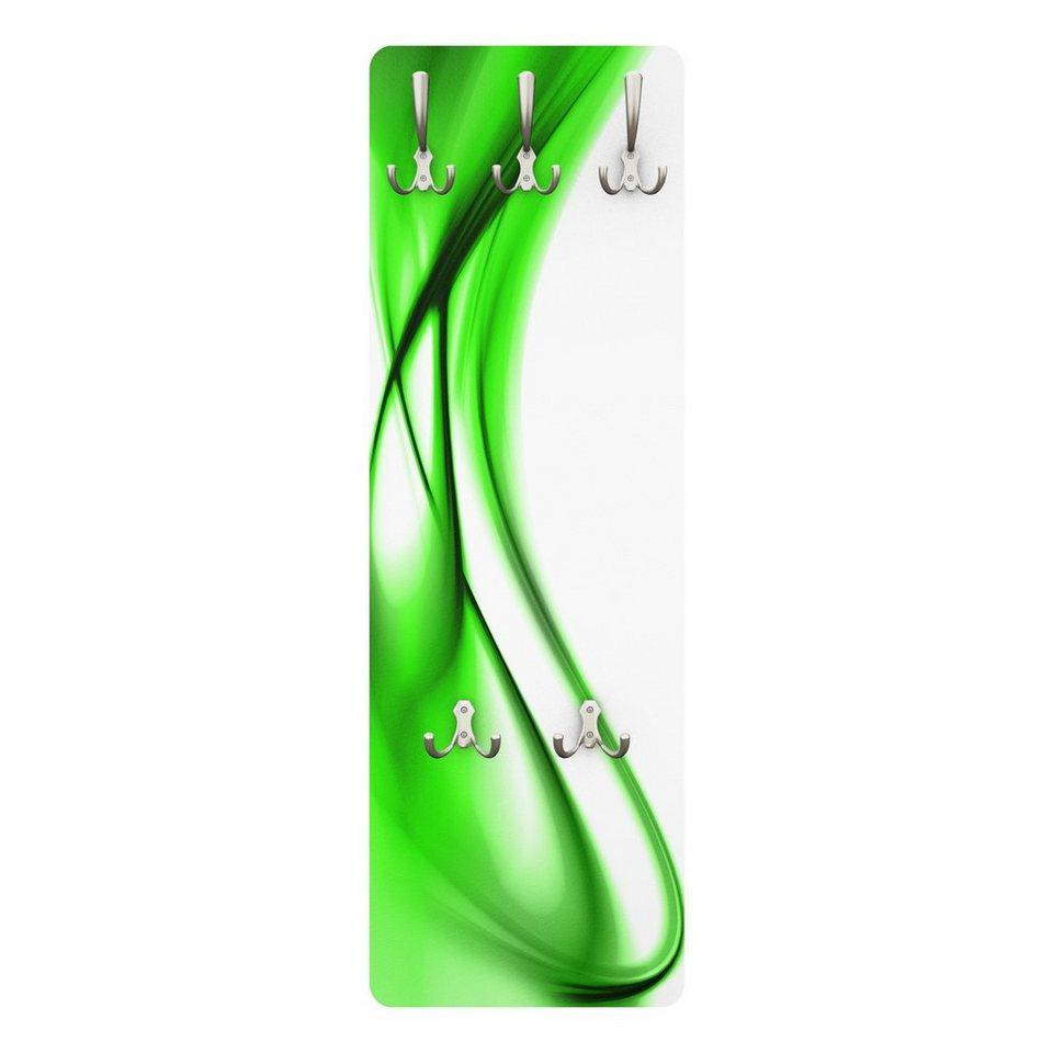 Bilderwelten Wandgarderobe Abstrakt 139x46x2cm »Green Touch« in Farbig
