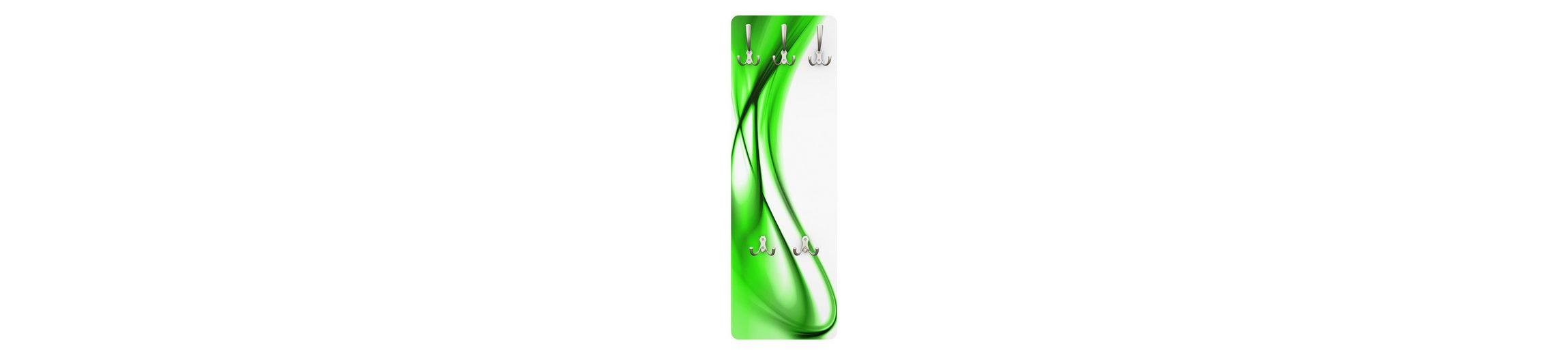 Bilderwelten Wandgarderobe Abstrakt 139x46x2cm »Green Touch«