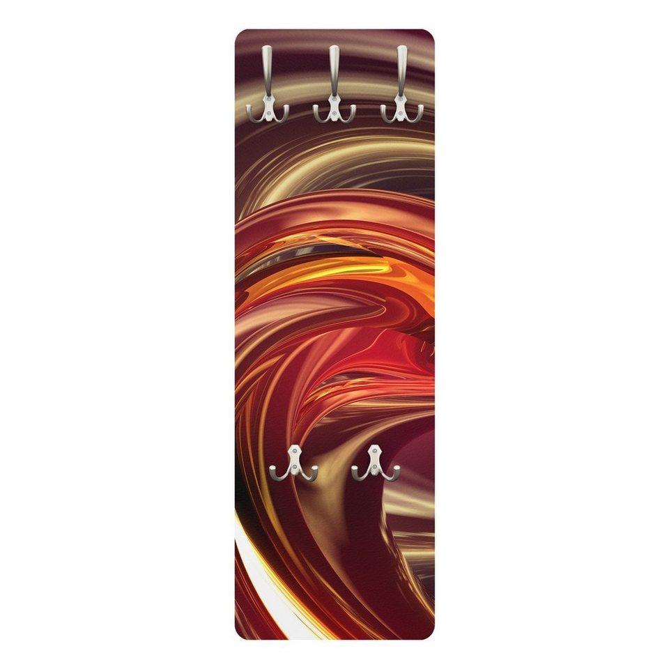 Bilderwelten Wandgarderobe Abstrakt 139x46x2cm »Fantastic Burning« in Rot