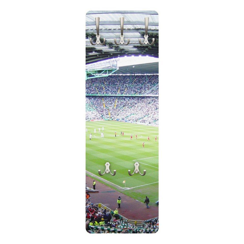 Bilderwelten Kindergarderobe 139x46x2cm »Fußballstadion« in Farbig