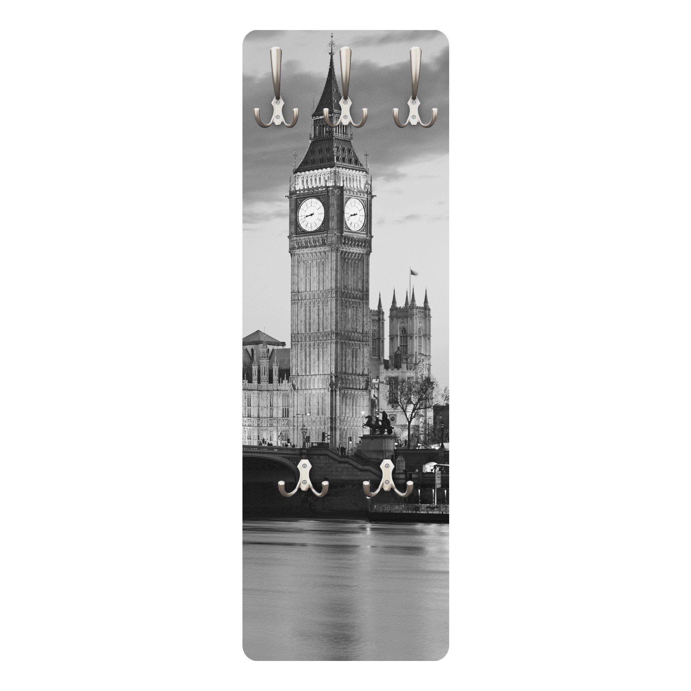 Bilderwelten Wandgarderobe 139x46x2cm »London bei Nacht II«