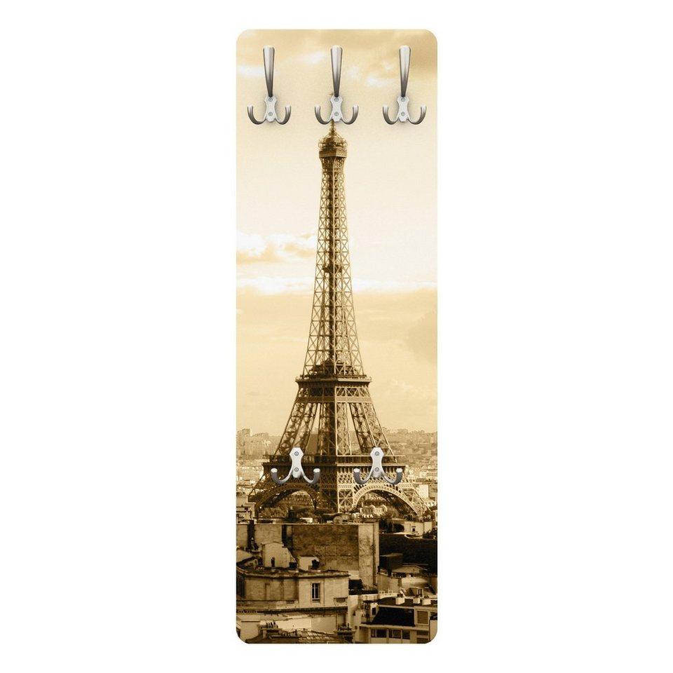 Bilderwelten Garderobe Vintage 139x46x2cm »I Love Paris« in Naturfarben