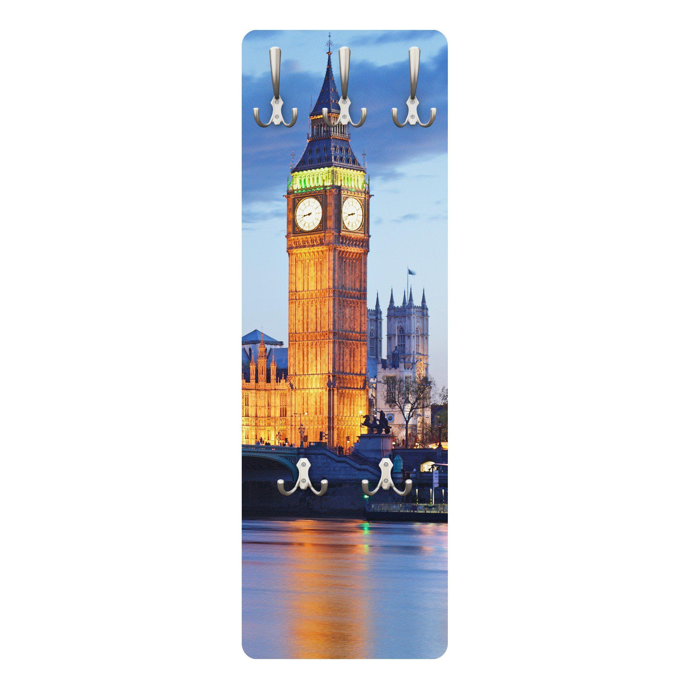 Bilderwelten Wandgarderobe 139x46x2cm »London bei Nacht«