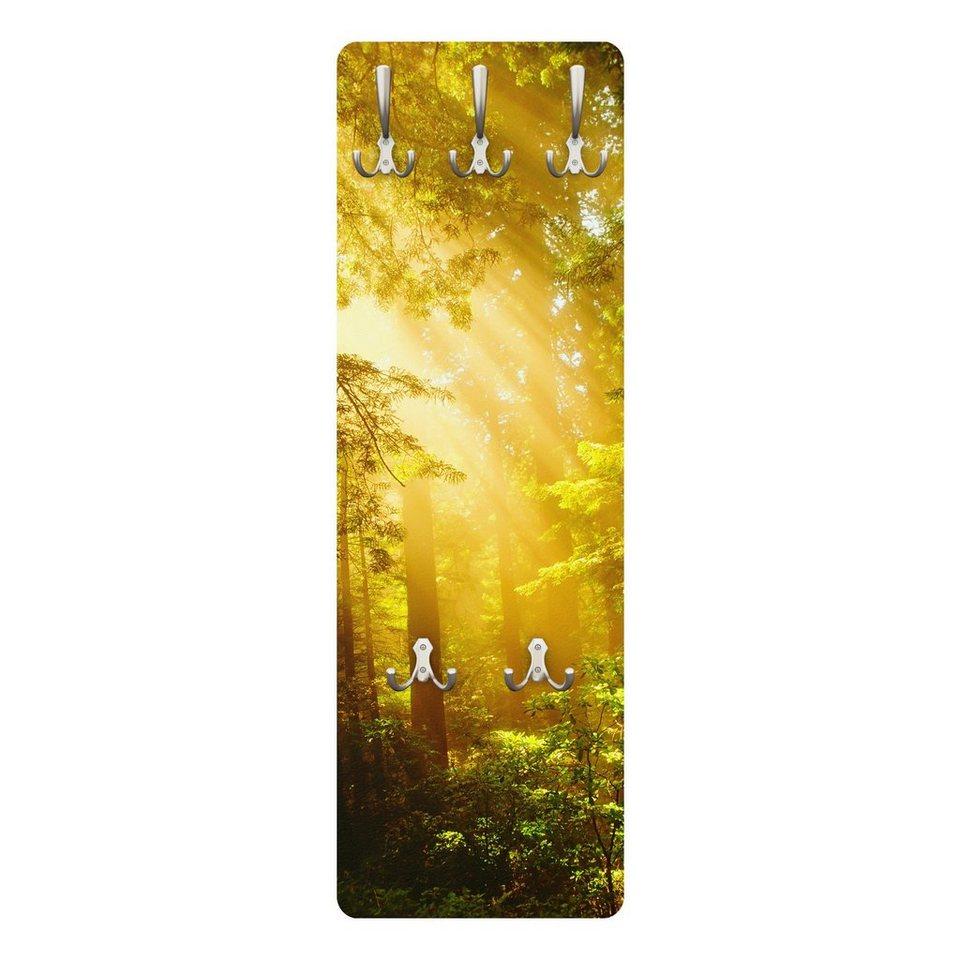 Bilderwelten Wandgarderobe 139x46x2cm »Morgengold« in Gelb