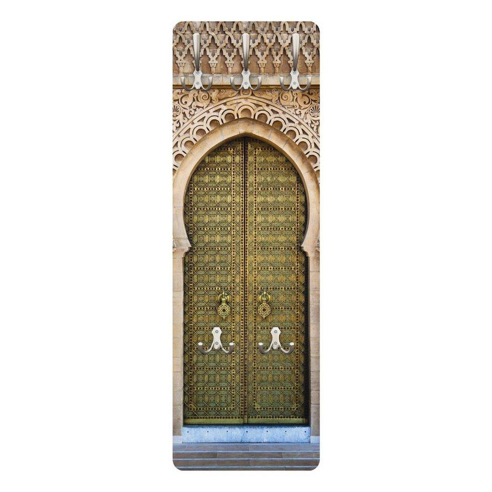 Bilderwelten Wandgarderobe 139x46x2cm »Oriental Gate« in Naturfarben