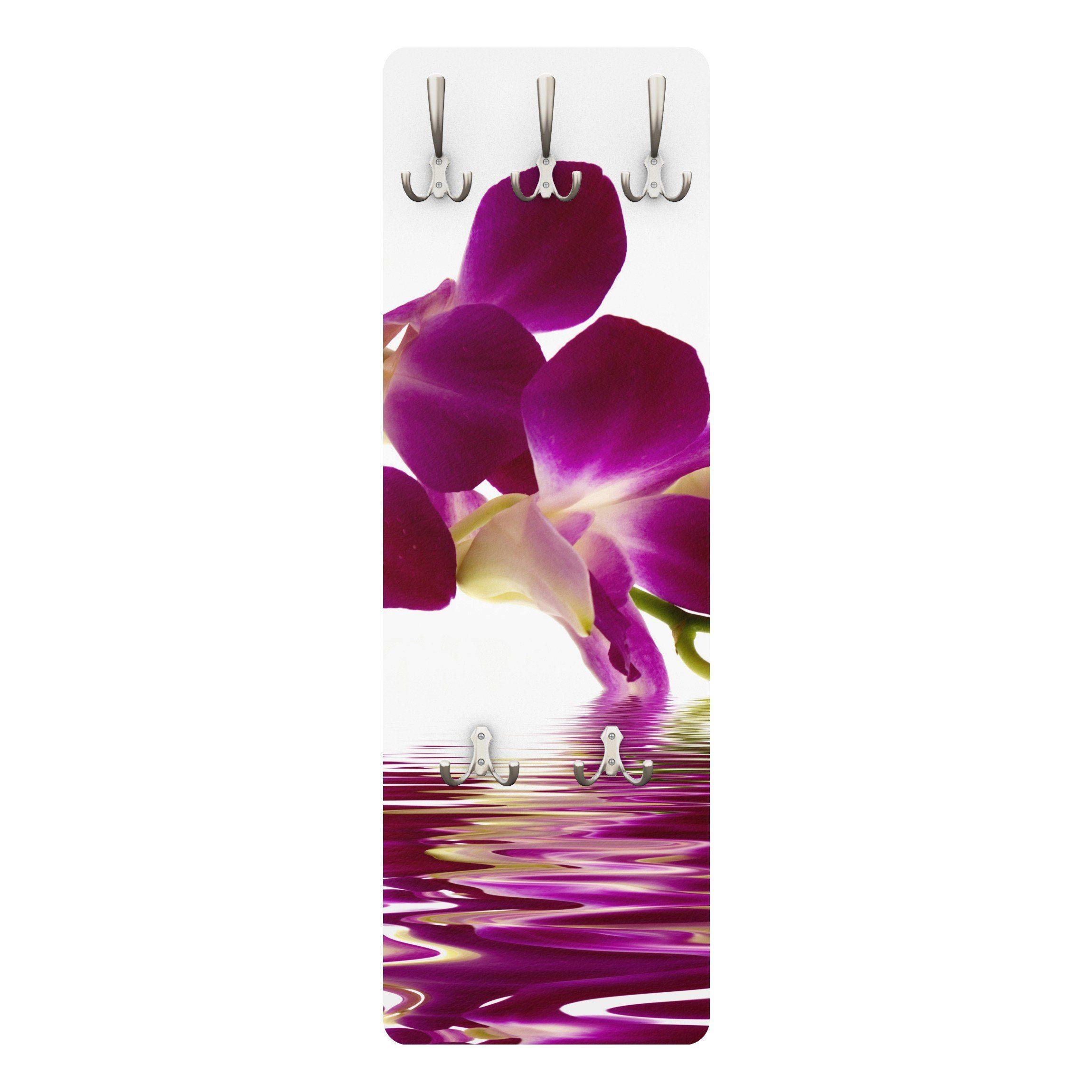 Bilderwelten Wandgarderobe Blumen 139x46x2cm »Pink Orchid Waters«