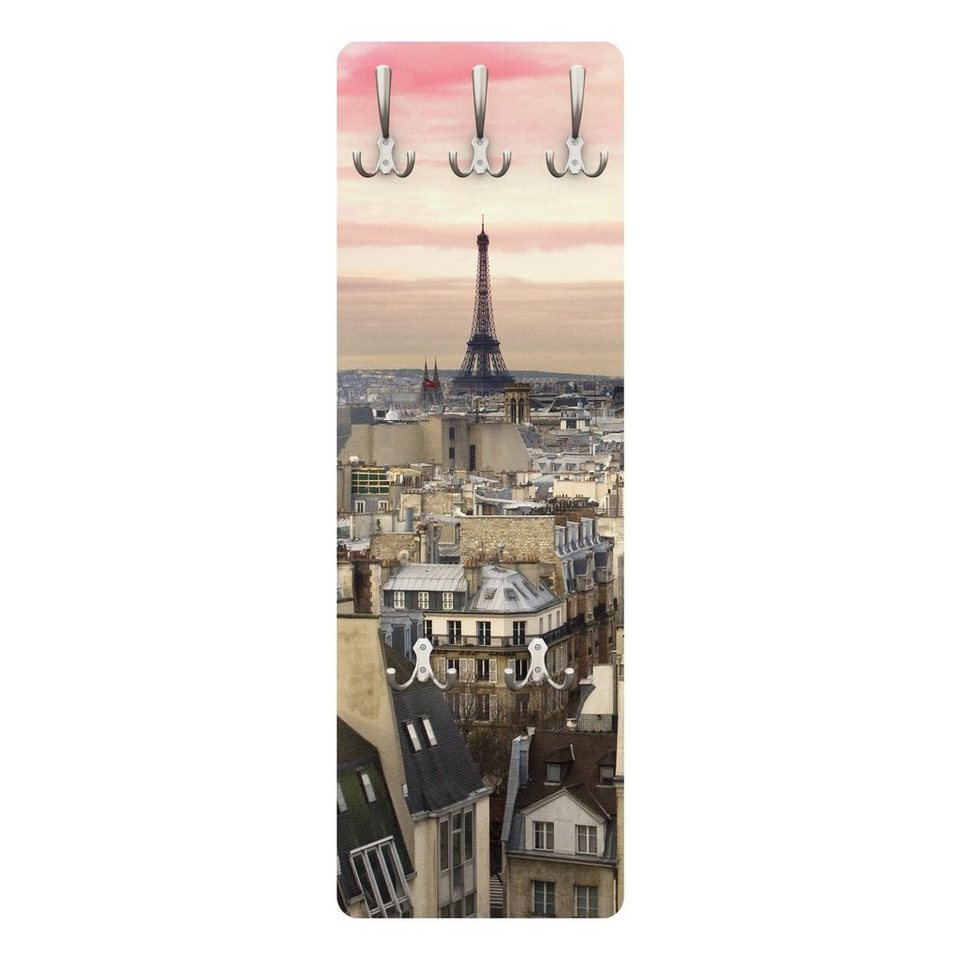 Bilderwelten Garderobe Vintage 139x46x2cm »Paris hautnah« in Pink