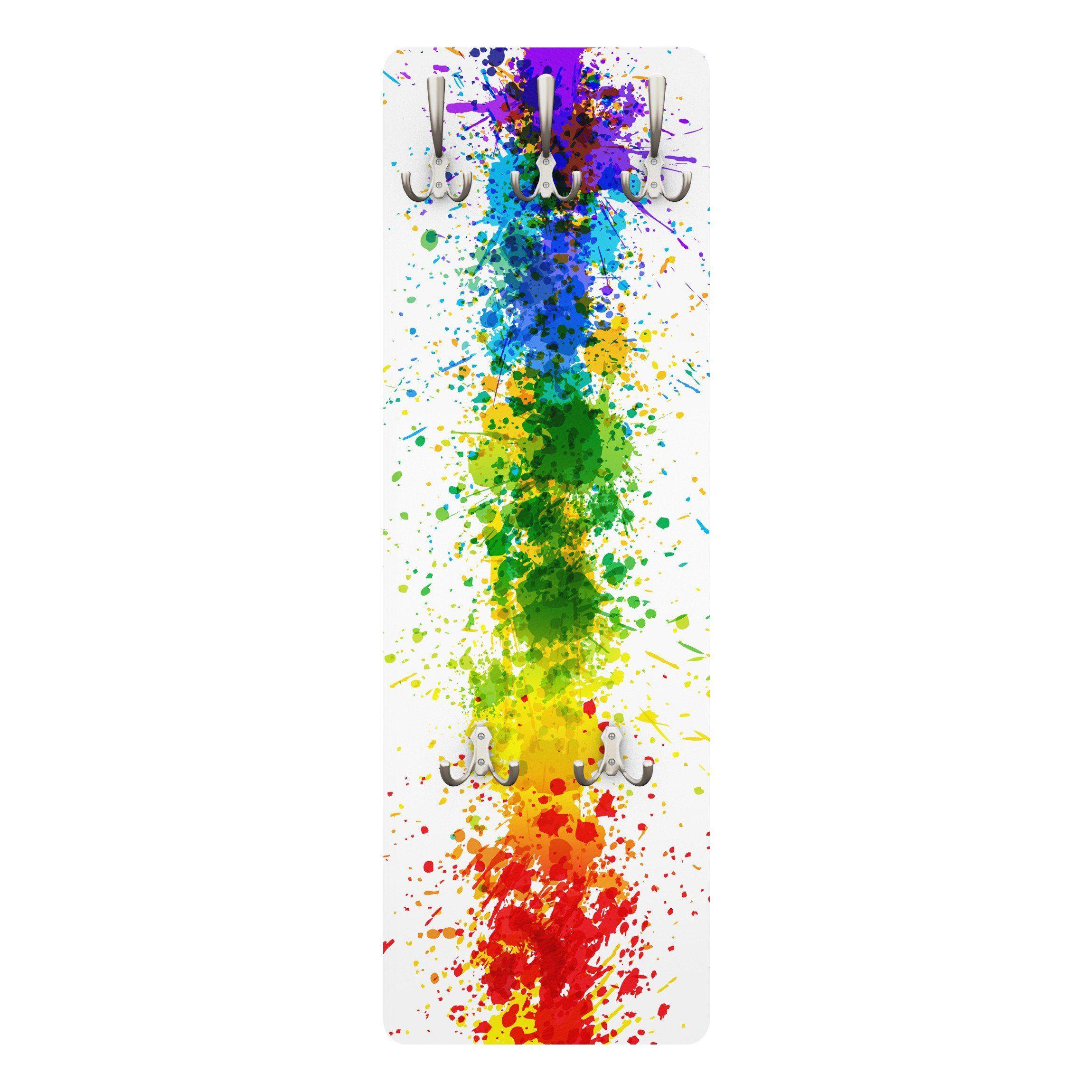 Bilderwelten Kindergarderobe 139x46x2cm »Rainbow Splatter«