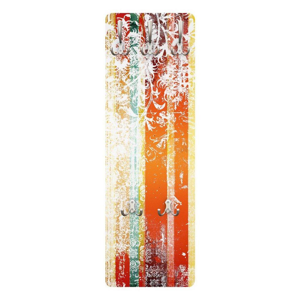 Bilderwelten Garderobe Vintage 139x46x2cm »Streaky I« in Orange