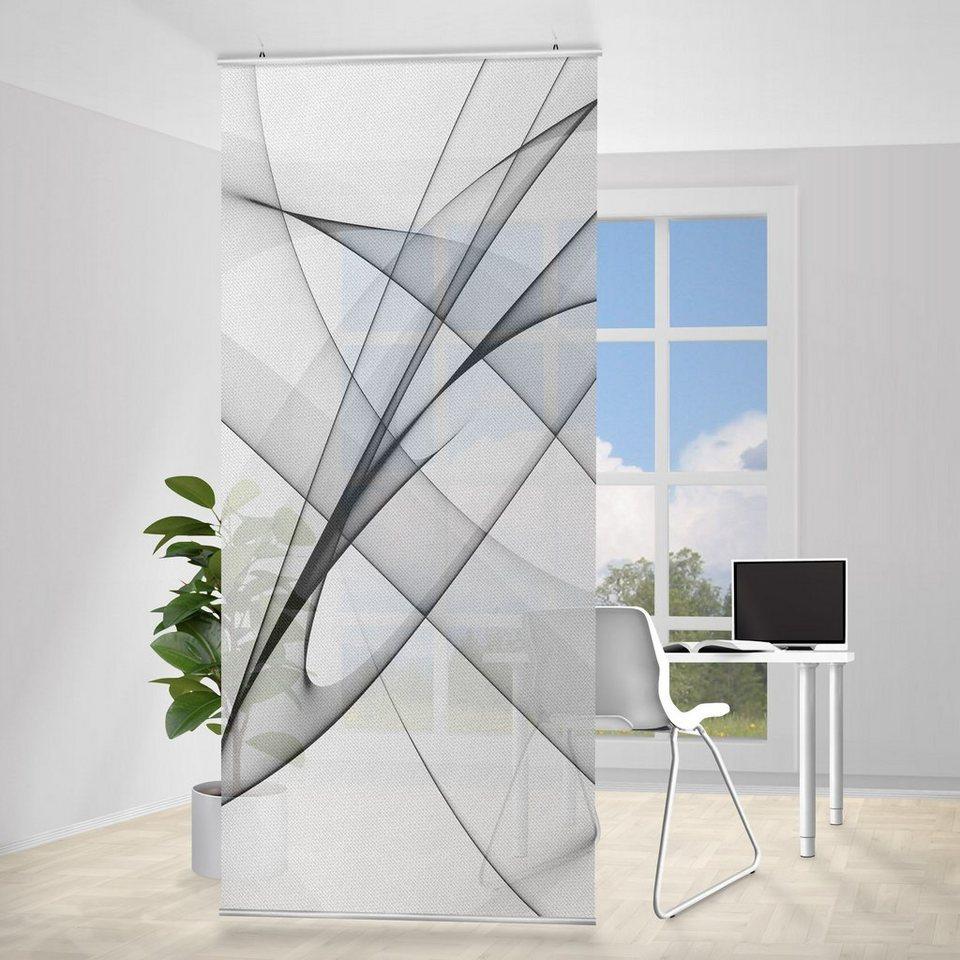 Bilderwelten Raumteiler 250x120cm »Vibration« in Grau