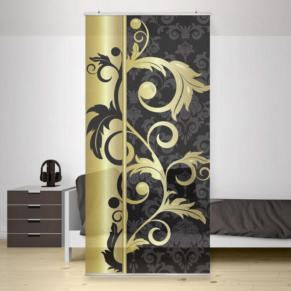 Bilderwelten Raumteiler 250x120cm »The 12 Muses« in Schwarz