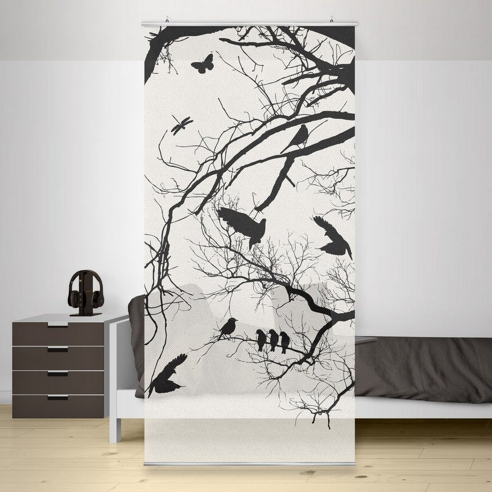 Bilderwelten Raumteiler 250x120cm »Vintage Tree in the Sky« in Weiß