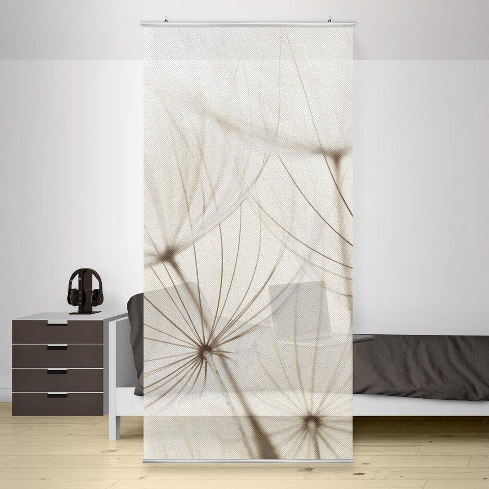 Bilderwelten Raumteiler 250x120cm »Sanfte Gräser« in Naturfarben