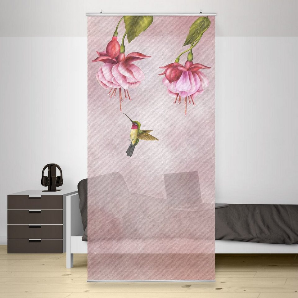 Bilderwelten Raumteiler 250x120cm »Kolibri« in Pink