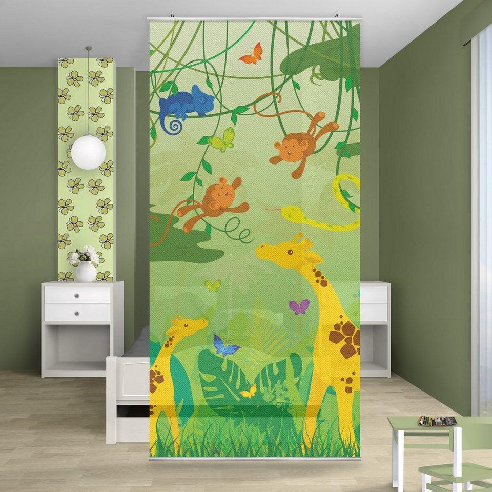 Bilderwelten Raumteiler Kinderzimmer 250x120cm »No.IS87 Dschungelspiel« in Grün