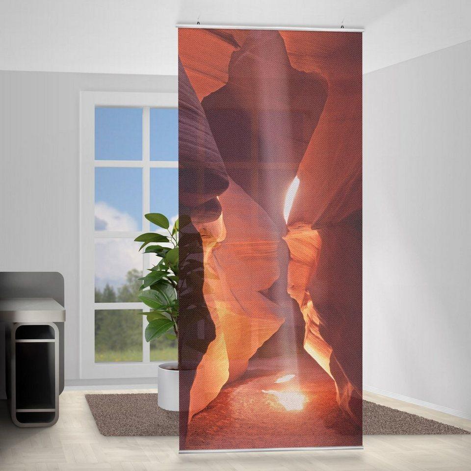 Bilderwelten Raumteiler 250x120cm »Lichtschacht im Antelope Canyon« in Rot