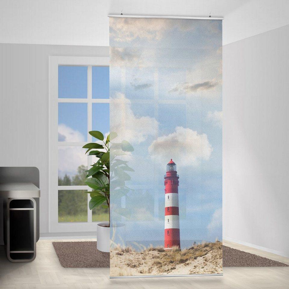 Bilderwelten Raumteiler 250x120cm »Leuchtturm in den Dünen« in Farbig
