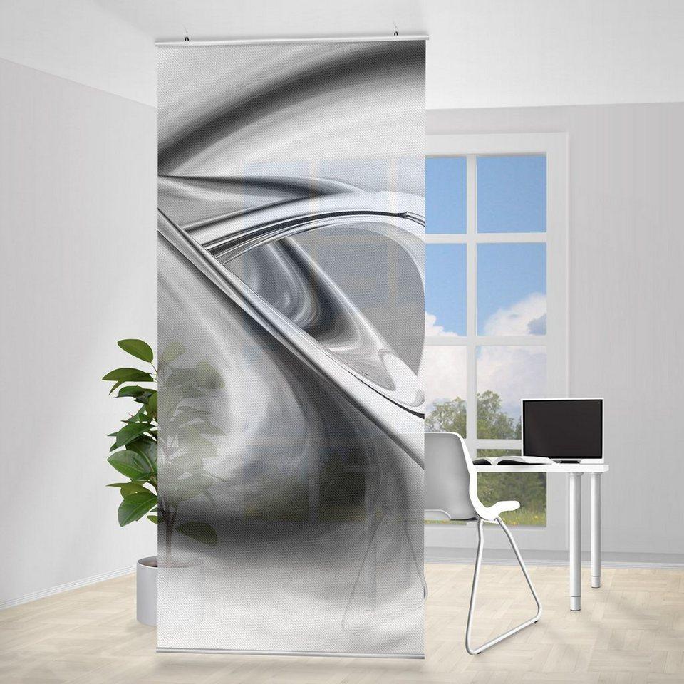 Bilderwelten Raumteiler 250x120cm »Drifting II« in Grau