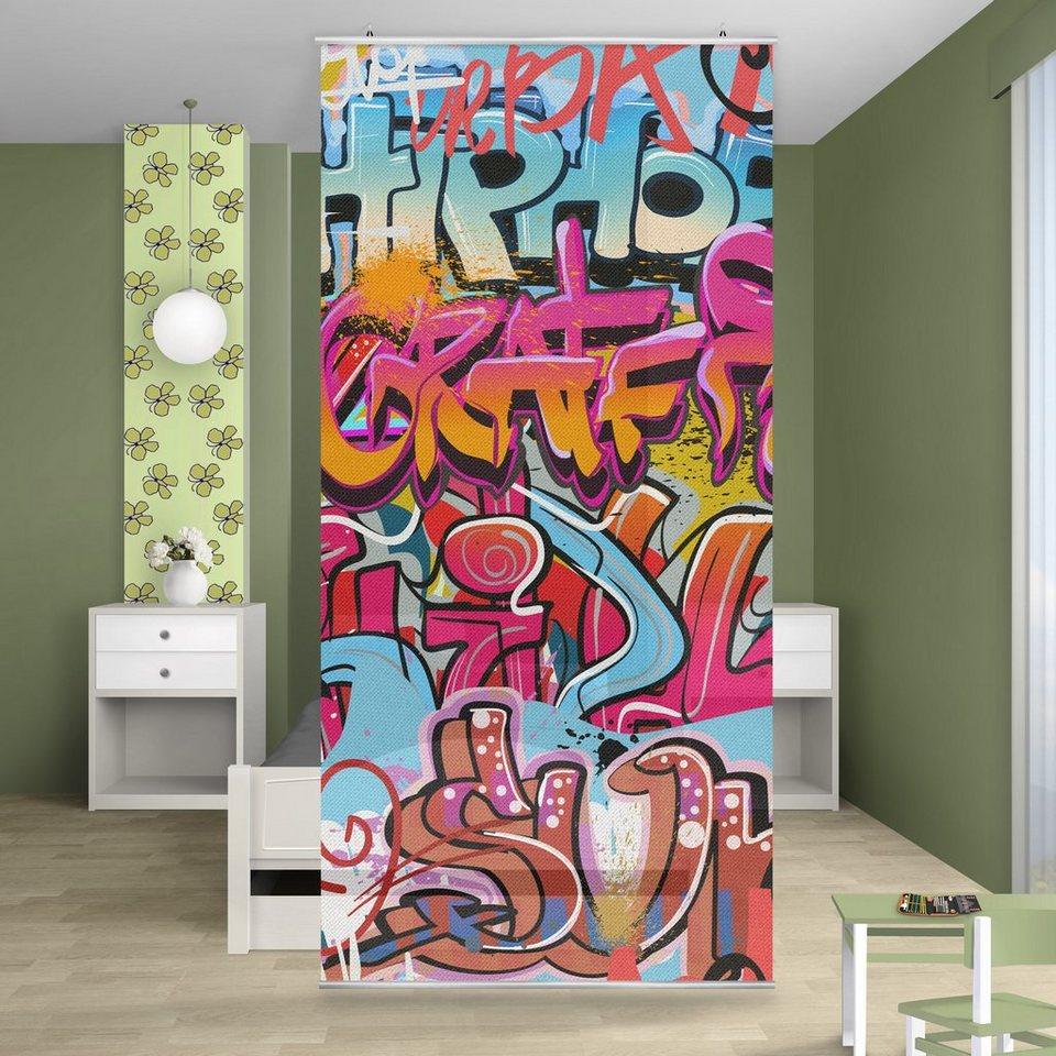 Bilderwelten Raumteiler 250x120cm »HipHop Graffiti« in Farbig