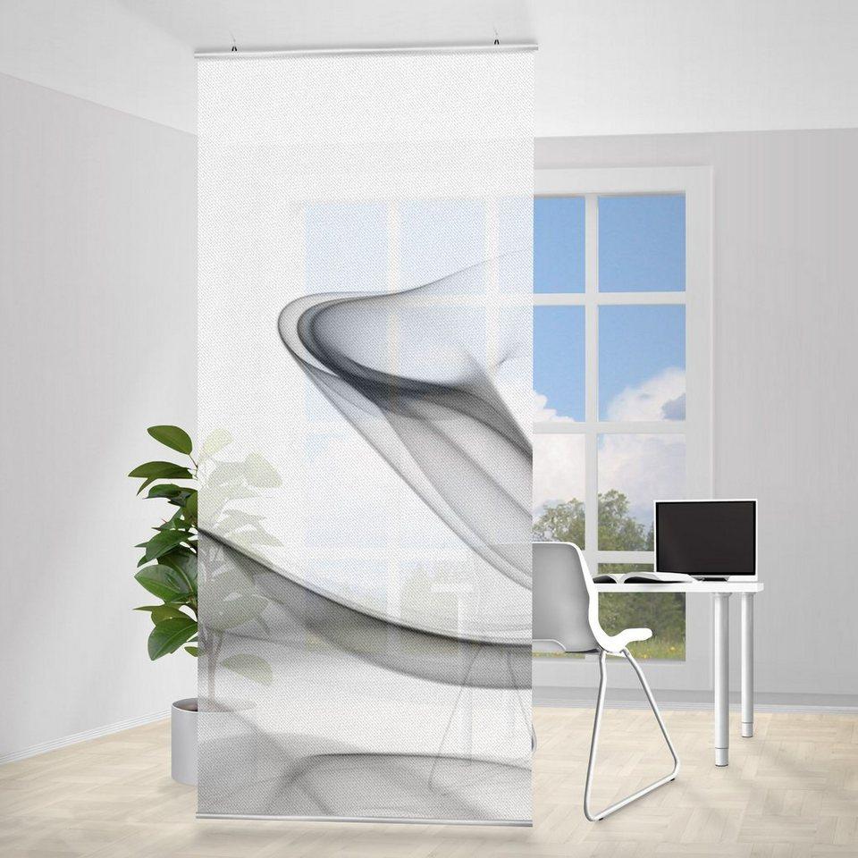 Bilderwelten Raumteiler 250x120cm »Grey Flame« in Weiß