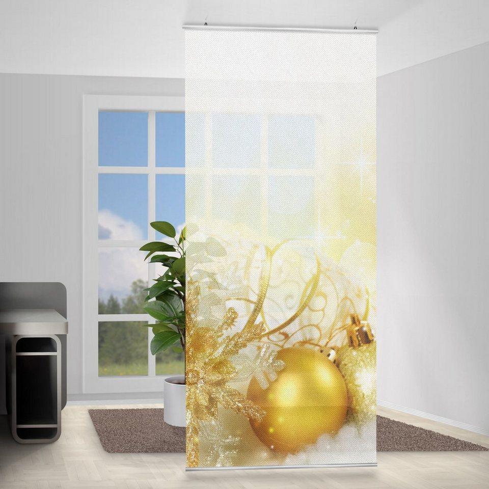 Bilderwelten Raumteiler 250x120cm »Christmas Magic« in Weiß