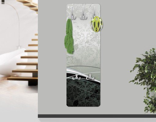 Bilderwelten Wandgarderobe 139x46x2cm »Swinging Baroque« in Grau